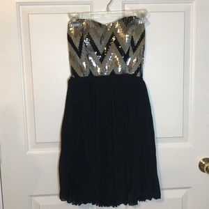 Black and gold homecoming dress